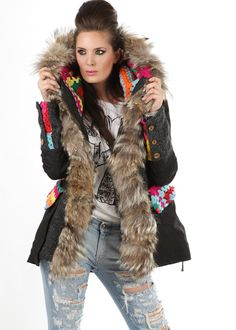 Bohemian Parka 4-in-1 Patchwork pink: GAMP, Italy