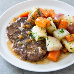 Slow-Cooker Braised Steaks with Root Vegetables