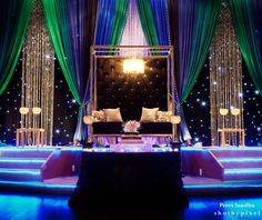 Green and blue reception