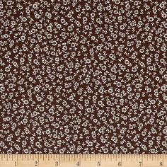 Kaufman Sevenberry Petite Garden Flower Stems Brown from @fabricdotcom  From the world renowned Sevenberry for Robert Kaufman, this cotton print fabric is made in Japan and features small scale floral prints on high quality cotton. Perfect for quilting, apparel and home decor accents. Colors include brown and cream.