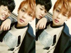 BTS Tweet - Jimin & V (selca) 140211