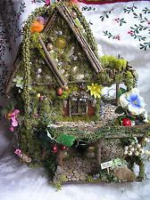 HANDCRAFTED OOAK FAIRY HOUSE - Lots & lots of Detail!!  Unfurnished.