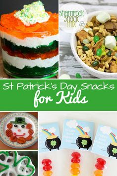 Don't miss these St Patrick's Day Snacks for Kids! You'll find plenty of ideas for the whole family - even a healthy recipe idea or two! Celebrate Saint Patrick's Day at your house in style!