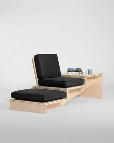 29 Steps Design Chair by Geof Ramsay Space Saving Furniture, Ikea Furniture, Plywood Furniture, Furniture Making, Cool Furniture, Modern Furniture, Furniture Design, Furniture Dolly, Furniture Ideas