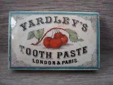 RARE YARDLEY'S TOOTHPASTE POT LID, LONDON & PARIS, Oblong Coloured lid