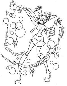 Printable Winx Club Coloring Book