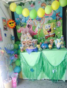 Sponge bob party decor