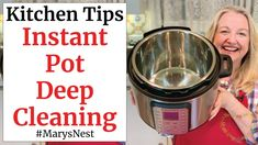 """Learn How to Clean Your Instant Pot - The Right Way! I share all the """"do's and don'ts"""" for easy Instant Pot cleaning - including the smelly sealing ring - an. New Pressure Cooker, Making Mac And Cheese, Creamy Mac And Cheese, Nourishing Traditions, Grass Fed Beef, Cooking Tools, Instant Pot, Cleaning"""