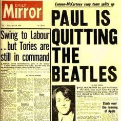 #thebeatles #beatles http://beatlesmagazine.blogspot.com/2015/04/this-day-in-beatles-history-1970-paul.htmlBEATLES  MAGAZINE: THIS DAY IN BEATLES  HISTORY 1970: PAUL ANNOUNCES ...