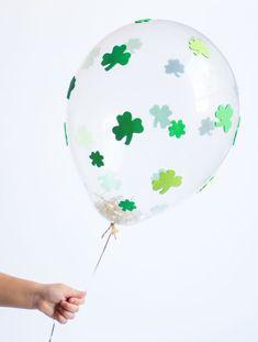 DIY St. Patrick's Day Shamrock Balloons