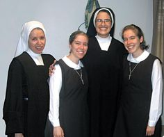 """The joy of religious life"" by Mary Katherine Lastra, Carmel DCJ; ""The Carmelite Sisters of the Divine Heart of Jesus held a religious celebration for four of their own on July 1 and 2 at Mount Carmel Chapel in Corpus Christi. The celebrations included the Religious Profession of novice Sister M. Clare of St. Michael (left), an Entrance into Postulancy of twin sisters Susan Redlinger and Laura Redlinger and the Renewal of Vows of Sister M. Teresa Margaret of the Blessed Sacrament."""