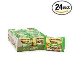 Maruchan Ramen, Chili, 3-Ounce Packages (Pack of 24), (ramen noodle, cheap food, maruchan, noodles, ramen, snacks)