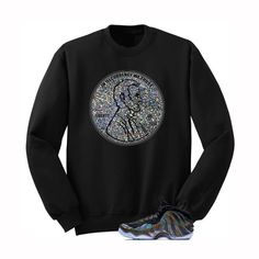 ca5ec747269 In illcurrency We Trust Hologram Foams Black Sweatshirt - illCurrency  Matching T-shirts For Sneakers