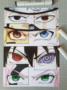 A Lot Of manga And Anime Drawing Styles Anime Naruto, Naruto Eyes, Naruto Fan Art, Naruto Cute, Naruto Shippuden Anime, Haikyuu Anime, Otaku Anime, Boruto, Naruto Sketch Drawing