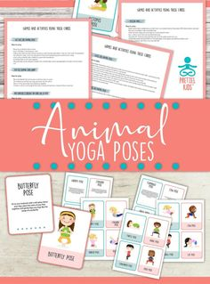 animal-activity-yoga-poses Mindfulness For Kids, Mindfulness Activities, Yoga For Kids, Exercise For Kids, Animal Yoga, Animal Fun, Become A Yoga Instructor, Money And Happiness, Childrens Yoga