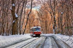 Contemporary Art, Nostalgia, Watercolor, Urban, Winter, Nature, Painting, Outdoor, Trains