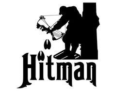 Bow Hunting Vinyl Decal - Hitman Bow Hunter Sticker - Deer Hunting