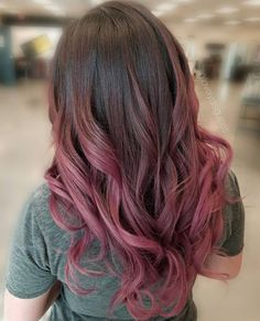 Dusty rose pink hair
