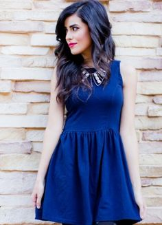 vestido azul casual - Buscar con Google