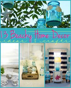 13 Beachy Home Decor Ideas and Crafts {The Weekly Round UP} - This Silly Girl's Life