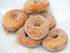 Who doesn't like Donuts?  This was a great find for me when I started going through my mom's recipe box. I remember mom making these and can't remember when I had them last.  Mom past away three years ago and I and my sis both got all mom's recipe's, she had so many, now I have so many and still look for more as I do love cooking.