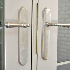 Door Hardware - Levers - Omnia - Polished Nickel - Brandino Brass co. Shea Bryars design