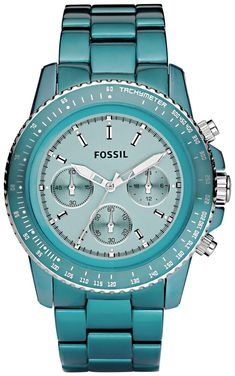 Fossil Fossil Ladies Blue Stella Aluminum Chronograph Watch CH2706