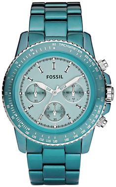 Fossil Fossil Ladies Blue Stella Aluminum Chronograph Watch CH2706