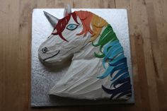 Not just a unicorn rainbow cake, but a sparkly rainbow unicorn cake! This cake was made to celebrate a birthday and was made from yummy chocolate fudge cake, and filled with strawberries and cream.…