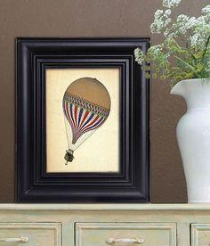 Vintage Hot Air Balloon  LeTricolore Digital Print by LoopyLolly