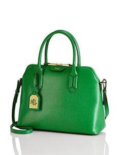 Ralph Lauren Leather Dome Satchel Handbag