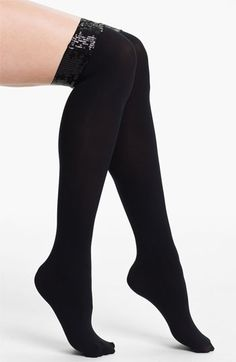 9f1502f0f DKNY Sequined Over the Knee Socks available at  Nordstrom My Socks