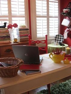 eclectic home office by Dear Daisy Cottage