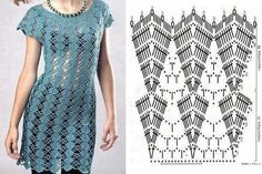 Tunic, this stitch pattern would make a great curtain!