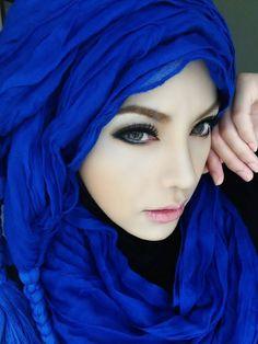 Pretty  Blue Hijab