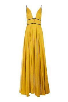 Chiffon Beaded Maxi Dress