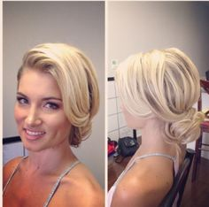 Side swept tousled updo by @suzikimbridalhair