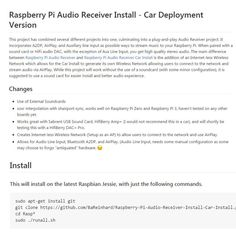 Finished the latest project. Definitely the best one so far. This project allows your #raspberrypi to be transformed into an all inclusive Audio Receiver it uses #bluetooth #airplay and auxiliary line input. Not just that but is easily implemented with @hifiberry or any other sound card. The project takes advantage of the @raspberrypifoundation #raspberrypi3 built in Bluetooth and wifi adapters. The Bluetooth will allow for A2DP streaming to the pi and integrates Bluetooth volume control…