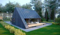 PAO Architects MODERN FAMILY HOUSE | LB DESIGN TEAM: Paulius Petkus Holzfassade Holzterasse Nurdachhaus Blechdach
