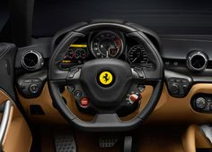 Cockpit of the Ferrari F12 Berlinetta