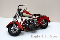 Yricas Design Metal HD Motocycle model Vintage Red Vintage Cars, Antique Cars, Route 66, Motto, Antiques, Red, Ebay, Design, Antiquities