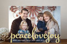 Type Frost Christmas Photo Cards by Melanie Severin at minted.com