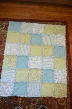 2013 - Baby Rag Quilt - flannel