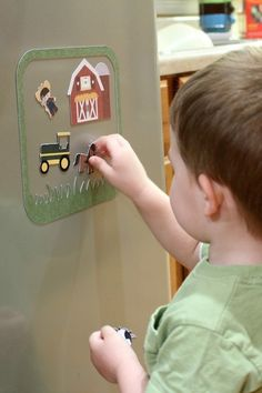 Magnetic Farm Playset for Kids - Make with Cricut Explore (or Silhouette)! Hudson would love this!