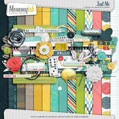 Quality DigiScrap Freebies: Just Me full kit freebie from Mommyish Free Digital Scrapbooking, Digital Scrapbook Paper, Printable Scrapbook Paper, Baby Scrapbook, Scrapbooking Layouts, Scrapbook Sketches, Digital Papers, Project Life, Kit Digital