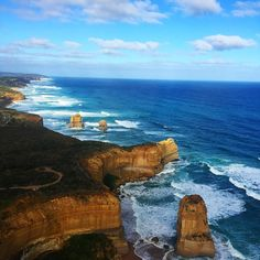 Another day in the office. Flew over the 12 apostles today. Such an amazing view! #12apostles #victoria #sunshine #beach #surf #nature #love #goodtimes #instagram #instagood by chantellenash http://ift.tt/1ijk11S
