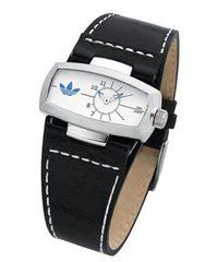 Adidas ADH1348 : Adidas Double Wide Black Leather Unisex Watch
