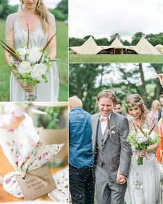 Bride and Groom from an Outdoor Tipi Wedding   Photography by http://folegaphotography.co.uk/