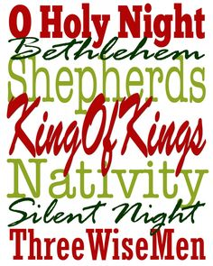 free christmas subway art printables | Free Christmas Subway art: Silent Night edition » Tammy Mitchell ...