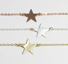 Star Necklace, Emma Watson Perks of being a Wallflower Movie, Gold Filled, ROSE Gold Filled or Sterling Silver on Etsy, $26.00